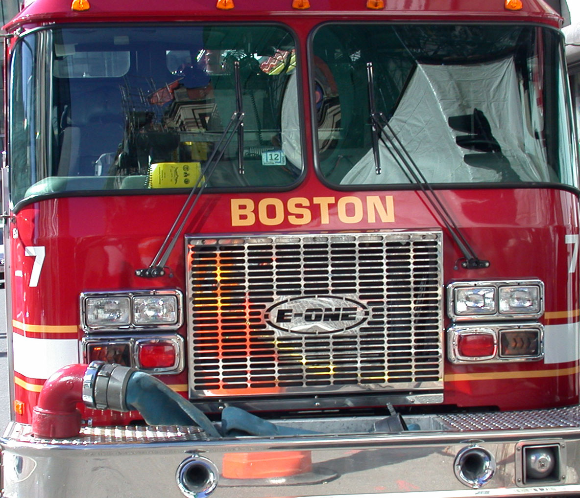boston fire engine front - all rights reserved Ernest J. Bordini, Ph.D.