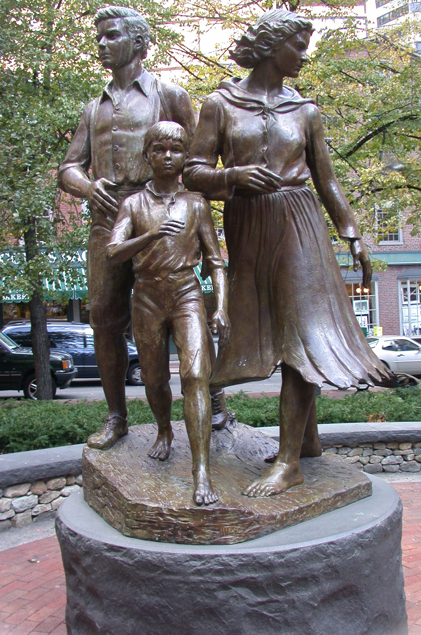 family statue boston photo by Ernest Bordini, Ph.D.