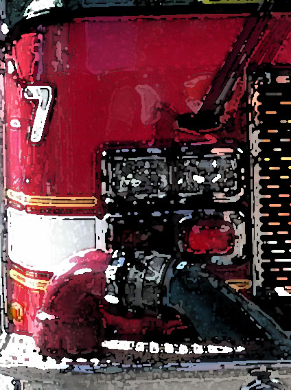 fire engine detail all rights reserved Ernest J. Bordini, Ph.D.