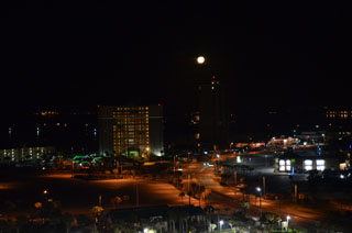 pensacola beach at night photography by Ernest J. Bordini, Ph.D. all rights reserved