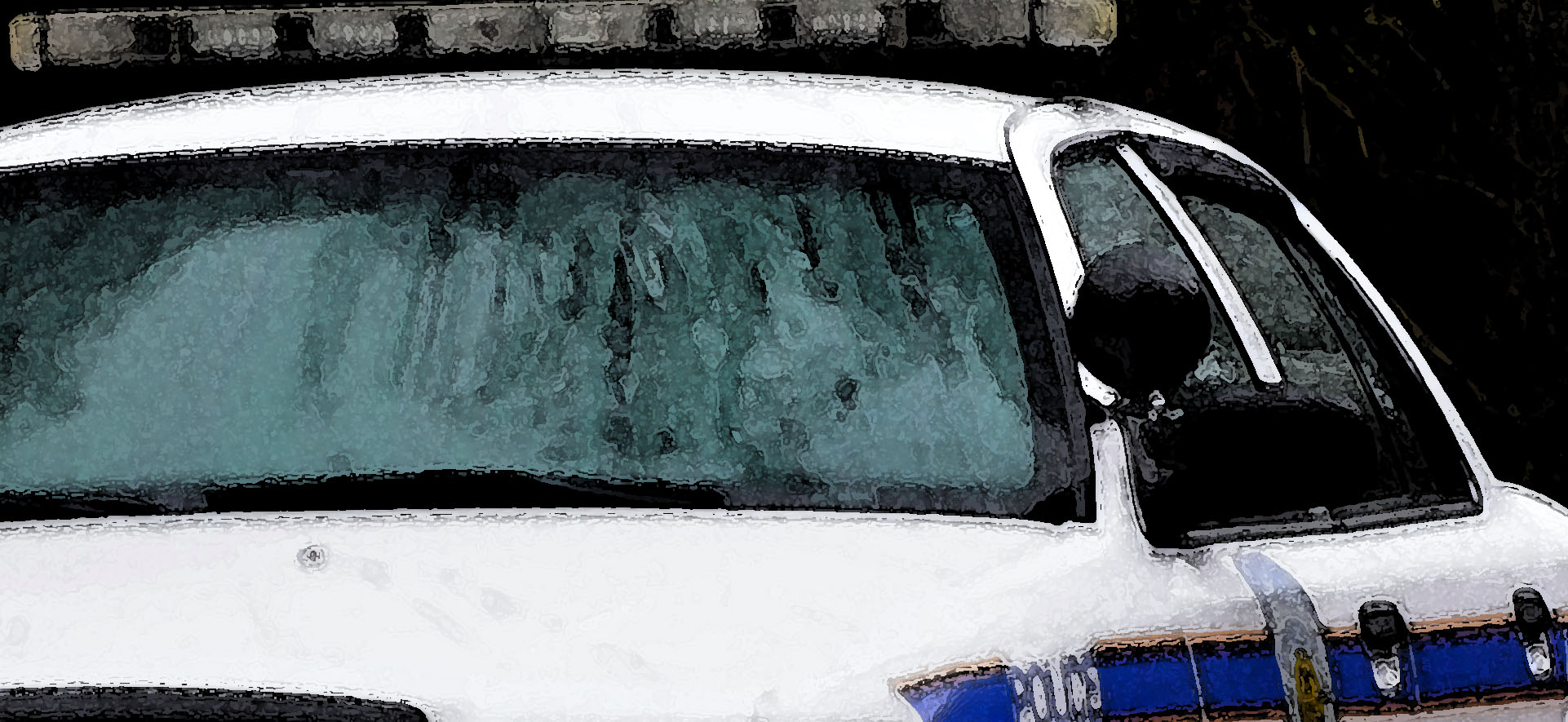 watercolor police vehicle detail - all rights reserved Ernest J. Bordini, Ph.D.