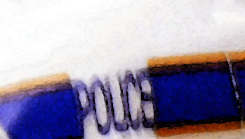 police car logo detail all rights reserved
